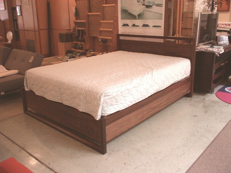Calistoga 2 0 queen bed in solid walnut w 6 soft close drawers as shown   3400  Also available in twin  full  and king. Beds   Bedding   Echo Furniture