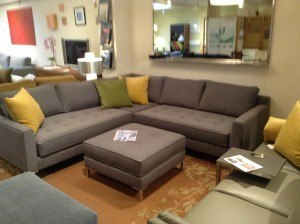 """Draper sectional. 94""""x94"""" Floor model $3995. With matching ottoman $4724"""