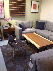 """$1299 Solid live 2""""slab coffee table from Parota wood. 48""""L x 24""""W.  Made in Mexico"""