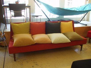 Decorative pillows in many custom colors.