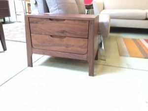 """Cosmo solid walnut nightstand 24""""W 16""""D x 20""""H  $599."""