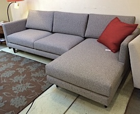 """Focus One Home #1622 sectional 96""""L x 56""""W x 34""""D Oxford Mist.  Floor model $2940"""