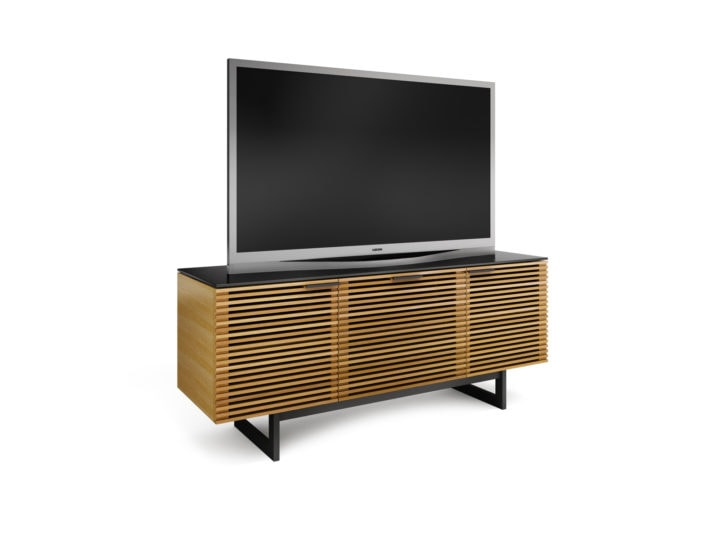 corridor 8177 tv cabinet soundbar white oak 2
